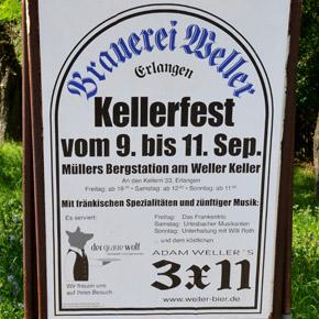 """Der Höhepunkt des Weller-Jubiläumsjahres war das """"Kellerfest am Weller Keller"""" vom 8. bis zum 11. September 2011"""