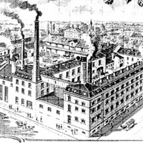Die Brauerei Erlwein & Schultheiss, die spätere Hofbräu AG, am Bohlenplatz 6