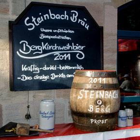 Die Steinbach-Bergbierprobe 2011 - Stadtarchivar Dr. Andreas Jakob wird Teil der Erlanger Biergeschichte