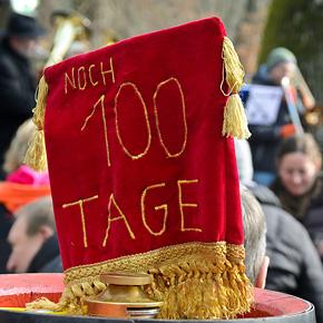 Faschingssonntag am Erich Keller: Noch 100 Tage bis zum Berg!