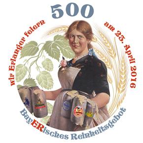 wir ERLANGER feiern 500 Jahre Reinheitsgebot am 23. April 2016